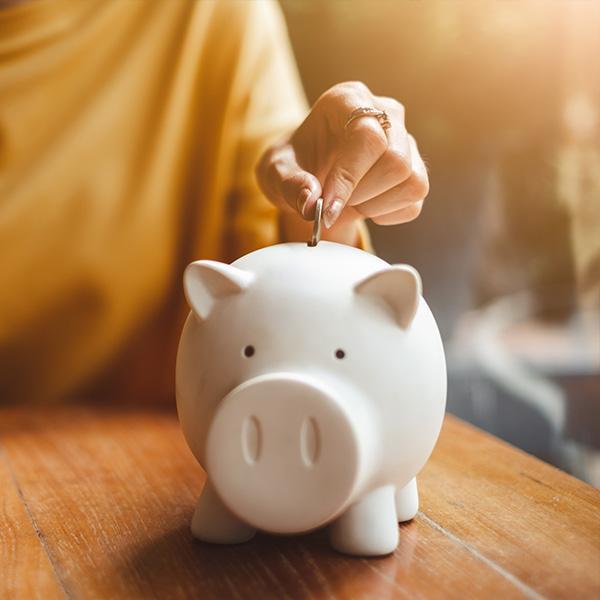 zbieranie oszczędności wśwince skarbonce